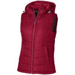 Mixed Doubles ladies bodywarmer, Female, Diamond check fabric of 100% Nylon with AC white coating, Red, L