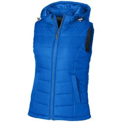 Mixed Doubles ladies bodywarmer, Female, Diamond check fabric of 100% Nylon with AC white coating, Sky blue, M