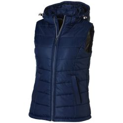 Mixed doubles ladies bodywarmer, Female, Diamond check fabric of 100% nylon with AC white coating, Navy, L
