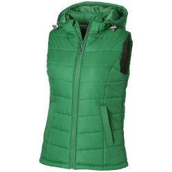 Mixed doubles ladies bodywarmer, Female, Diamond check fabric of 100% nylon with AC white coating, Bright green, L