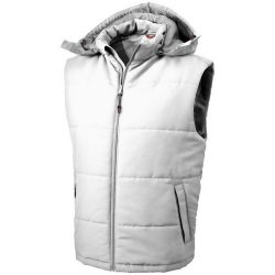 Gravel bodywarmer, Male, Taslon of 100% Polyester with AC coating Lining of 100% Polyester taffeta, White, S