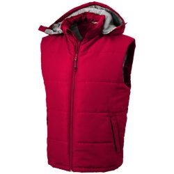 Gravel bodywarmer, Male, Taslon of 100% Polyester with AC coating Lining of 100% Polyester taffeta, Red, M