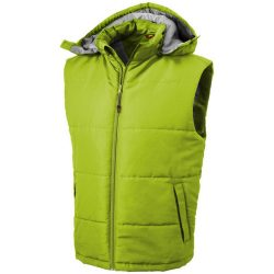 Gravel bodywarmer, Male, Taslon of 100% Polyester with AC coating Lining of 100% Polyester taffeta, Apple Green, M