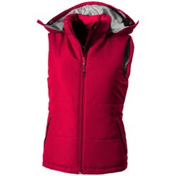 Gravel ladies bodywarmer, Female, Taslon of 100% Polyester with AC coating Lining of 100% Polyester taffeta, Red, XL