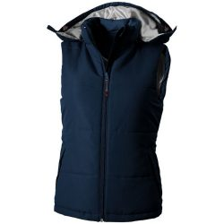 Gravel ladies bodywarmer, Female, Taslon of 100% Polyester with AC coating Lining of 100% Polyester taffeta, Navy, XL