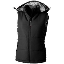 Gravel ladies bodywarmer, Female, Taslon of 100% Polyester with AC coating Lining of 100% Polyester taffeta, solid black, XL