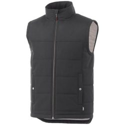 Swing insulated bodywarmer, Male, Dobby woven of 100% Polyester with waterproof finish, Grey smoke , L