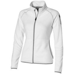 Drop shot full zip micro fleece ladies jacket, Female, Micro fleece of 100% Polyester 2 Sides brushed, 1 side anti-pilling, White, XL