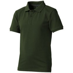 Calgary short sleeve kids polo, Kids, Single Piqué knit of 100% Cotton, Army Green, 140