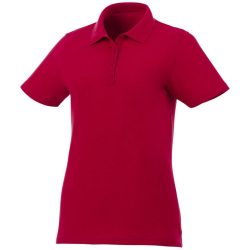 Liberty private label short sleeve women's polo, Female, Piqué knit of 100% Cotton, Red, L