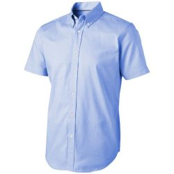 Manitoba short sleeve shirt, Male, Oxford of 100% Cotton 40x32/2, 110x50, Light blue, XS