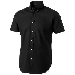 Manitoba short sleeve shirt, Male, Oxford of 100% Cotton 40x32/2, 110x50, solid black, M