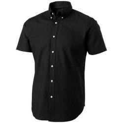 Manitoba short sleeve shirt, Male, Oxford of 100% Cotton 40x32/2, 110x50, solid black, L