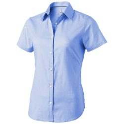 Manitoba short sleeve ladies shirt, Female, Oxford of 100% Cotton 40x32/2, 110x50, Light blue, M