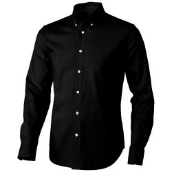 Vaillant long sleeve Shirt, Male, Oxford of 100% Cotton 40x32/2, 110x50, solid black, M