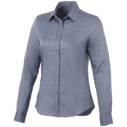 Vaillant long sleeve ladies shirt, Female, Oxford of 100% Cotton 40x32/2, 110x50, Navy, XXL