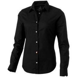 Vaillant long sleeve ladies shirt, Female, Oxford of 100% Cotton 40x32/2, 110x50, solid black, XS