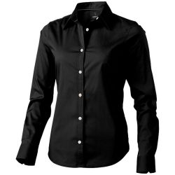 Hamilton long sleeve ladies shirt, Female, Poplin of 100% Cotton 45x40, 142x92, solid black, XS