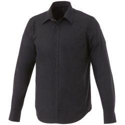 Hamell long sleeve shirt, Male, Poplin of 96% Cotton, 4% Elastane 50x50+40D, 170x72, solid black, L
