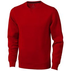 Surrey crew Sweater, Unisex, Knit of 80% Cotton and 20% Polyester, brushed on the inside, Red, XXS