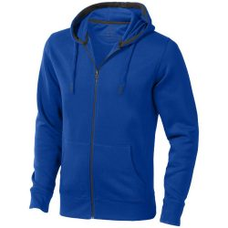 Arora hooded full zip sweater, Male, Knit of 80% Cotton and 20% Polyester, brushed on the inside, Blue, XL