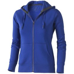 Arora hooded full zip ladies sweater, Female, Knit of 80% Cotton and 20% Polyester, brushed on the inside, Blue, L