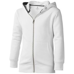 Arora hooded full zip kids sweater, Kids, Knit of 80% Cotton and 20% Polyester, brushed on the inside, White, 116