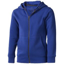 Arora hooded full zip kids sweater, Kids, Knit of 80% Cotton and 20% Polyester, brushed on the inside, Blue, 116