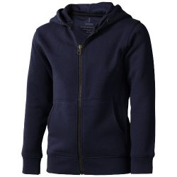 Arora hooded full zip kids sweater, Kids, Knit of 80% Cotton and 20% Polyester, brushed on the inside, Navy, 116