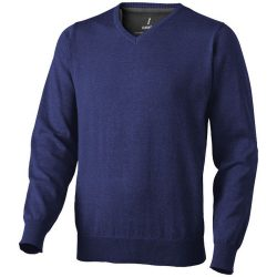 Spruce V-neck pullover, Male, Flat knit of 60% Cotton and 40% Polyester 12 Gauge, Navy, S