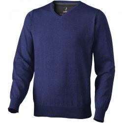 Spruce V-neck pullover, Male, Flat knit of 60% Cotton and 40% Polyester 12 Gauge, Navy, M