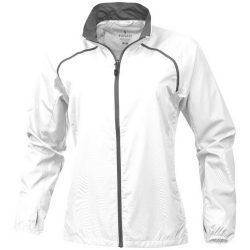 Egmont packable ladies jacket, Female, 240T of 100% Polyester with water resistant coating and water repellent finish, White, XL