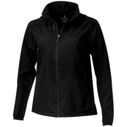 Flint lightweight ladies jacket, Female, 240T of 100% Polyester with water resistant coating and water repellent finish, solid black, XS