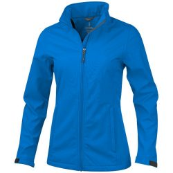 Maxson softshell ladies jacket, Female, Mechanical stretch woven of 100% Polyester bonded to micro fleece of 100% Polyester with waterproof, breathable membrane and water-repellent finish, Blue, L