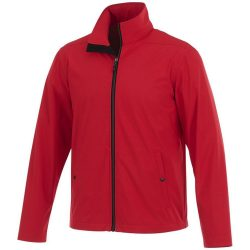 Karmine softshell jacket, Male, Mechanical stretch woven of 100% Polyester bonded to 100% Polyester interlock knit with waterproof, breathable membrane and water-repellent finish, Red, L