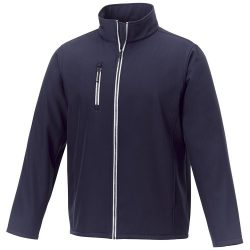 Orion men's softshell jacket, Mechanical stretch woven of 100% Polyester bonded with 100% Polyester micro fleece, Navy, L