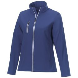 Orion women's softshell jacket, Mechanical stretch woven of 100% Polyester bonded with 100% Polyester micro fleece, Blue, XS