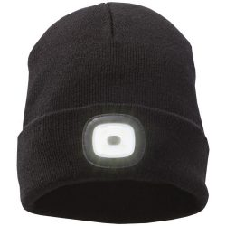 Mighty LED knit beanie, Black, Unisex, solid black