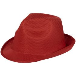 Trilby Hat, Unisex, 100% Polyester, Red