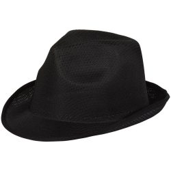 Trilby Hat, Unisex, 100% Polyester, solid black