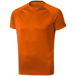 Niagara short sleeve men's cool fit t-shirt, Male, Mesh of 100% Polyester with Cool Fit finish, Orange, XXL
