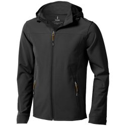 Langley softshell jacket, Male, Woven fabric of 90% Polyester and 10% Elastane bonded with 100% Polyester micro fleece, Anthracite, S