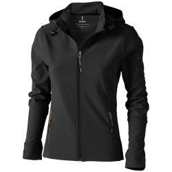 Langley softshell ladies jacket, Female, Woven fabric of 90% Polyester and 10% Elastane bonded with 100% Polyester micro fleece, Anthracite, L