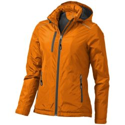 Smithers fleece lined ladies jacket, Female, Dobby woven of 100% Polyester with water resistant coating and water repellent finish Lining of 100% Polyester anti-pill fleece, Orange, XL