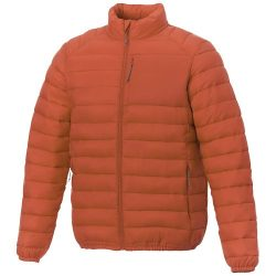Atlas men's insulated jacket, Woven of 100% Nylon, 380T with cire finish, Orange, XS