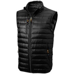 Fairview light down bodywarmer, Male, Woven of 100% Nylon with dull cire water repellent coating, 20D 90% Down and 10% Feathers 115 g/m², solid black, M
