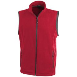 Tyndall micro fleece bodywarmer, Male, Micro fleece of 100% Polyester, 2 sides brushed, 1 side anti-pilling, Red, XS