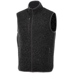 Fontaine knit bodywarmer, Male, 100% Polyester brushed back sweater knit, Heather Smoke, XL
