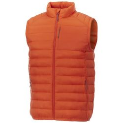 Pallas men's insulated bodywarmer, Woven of 100% Nylon, 380T with cire finish, Orange, M