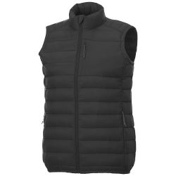 Pallas men's insulated bodywarmer, Woven of 100% Nylon, 380T with cire finish,  solid black, M